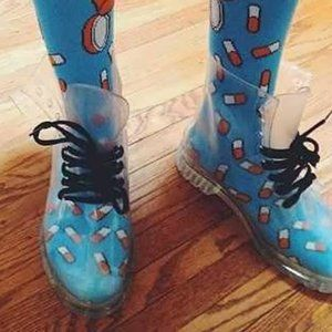 Jelly Boots Clear Doc Martens Style